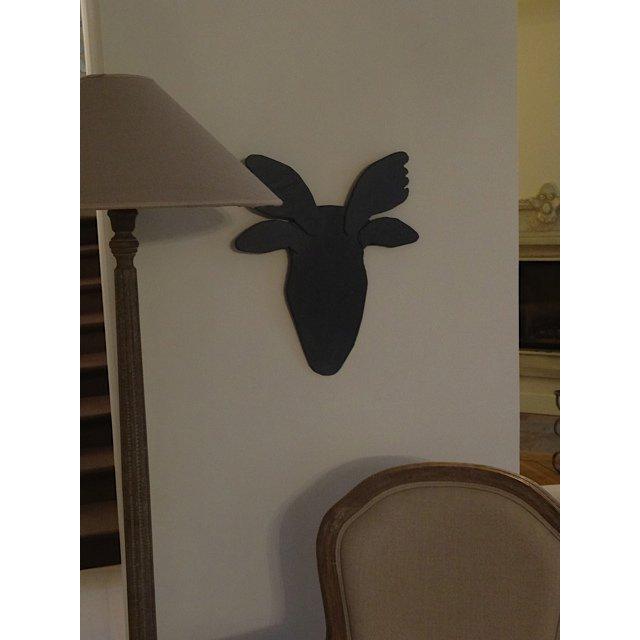 trophee tete de cerf design. Black Bedroom Furniture Sets. Home Design Ideas