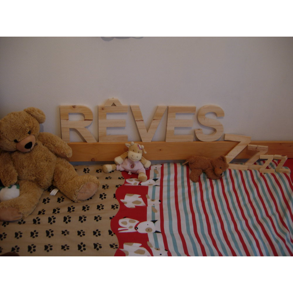 Lettre bois alphabet 15 cm - Lettre decorative en bois ...