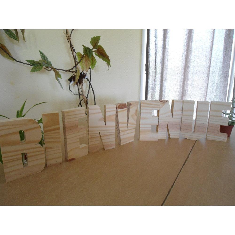 Lettre bois alphabet 10 cm - Decoration bois a peindre ...