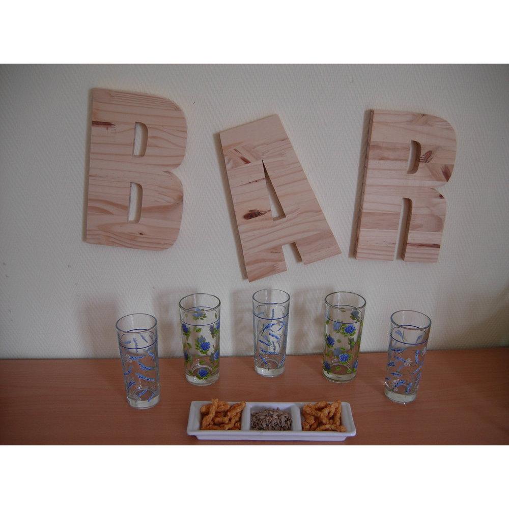 Lettre bois d corative 20 cm - Lettre decorative en bois ...