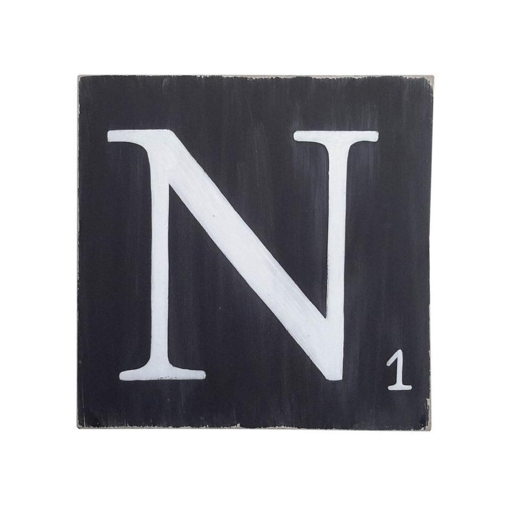lettres d coratives 25 cm bois noir. Black Bedroom Furniture Sets. Home Design Ideas