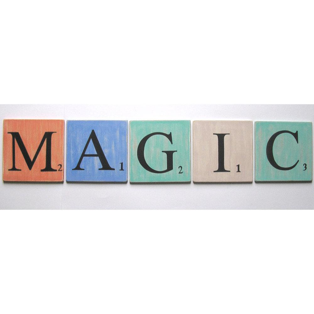 Lettres en bois d co bleu lagon 15 cm - Experte en composants 15 lettres ...