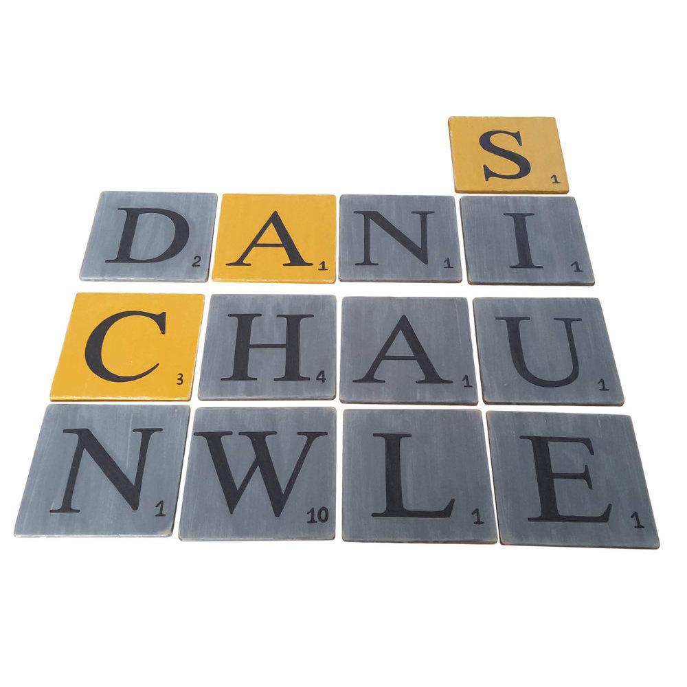 Lettres en bois d co zinc 15 cm - Experte en composants 15 lettres ...