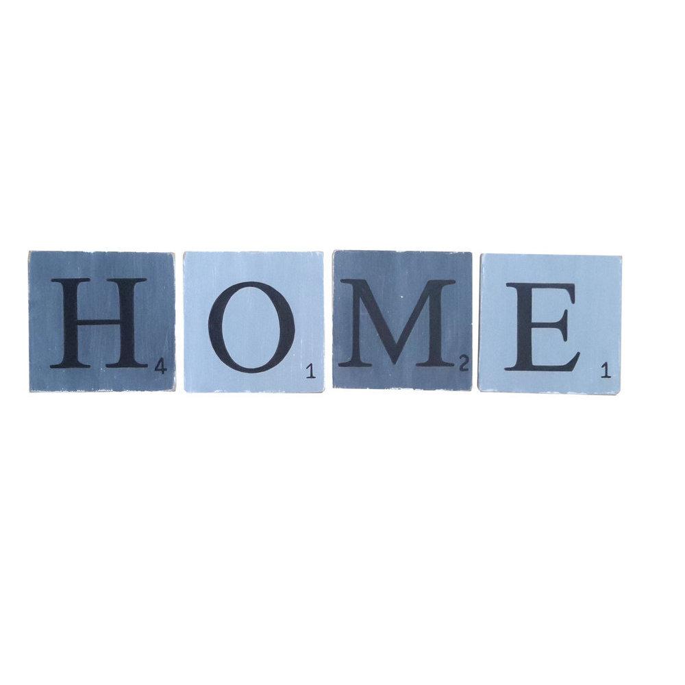 lettres en bois d co zinc 15 cm. Black Bedroom Furniture Sets. Home Design Ideas