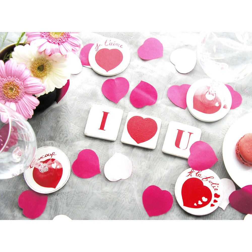 deco table st valentin. interesting photos duune belle table duamour