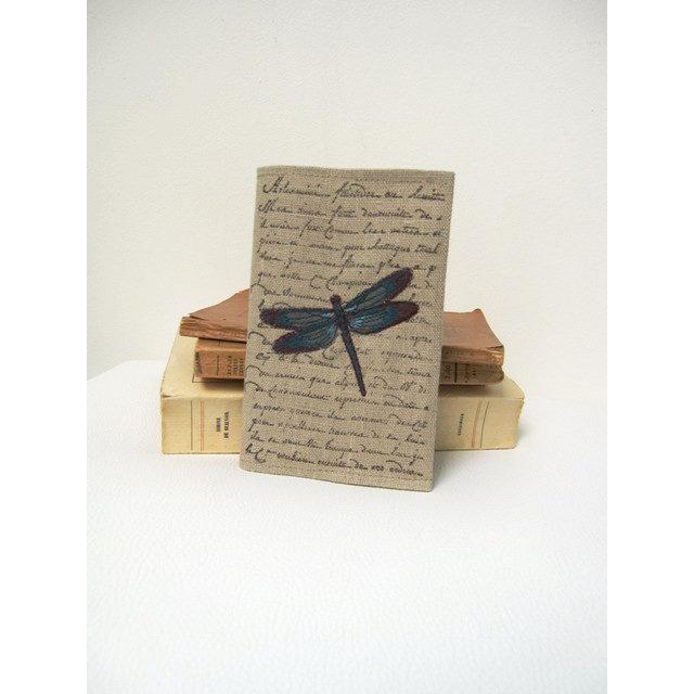 joli carnet brode libellule au fil de l 39 ondine. Black Bedroom Furniture Sets. Home Design Ideas