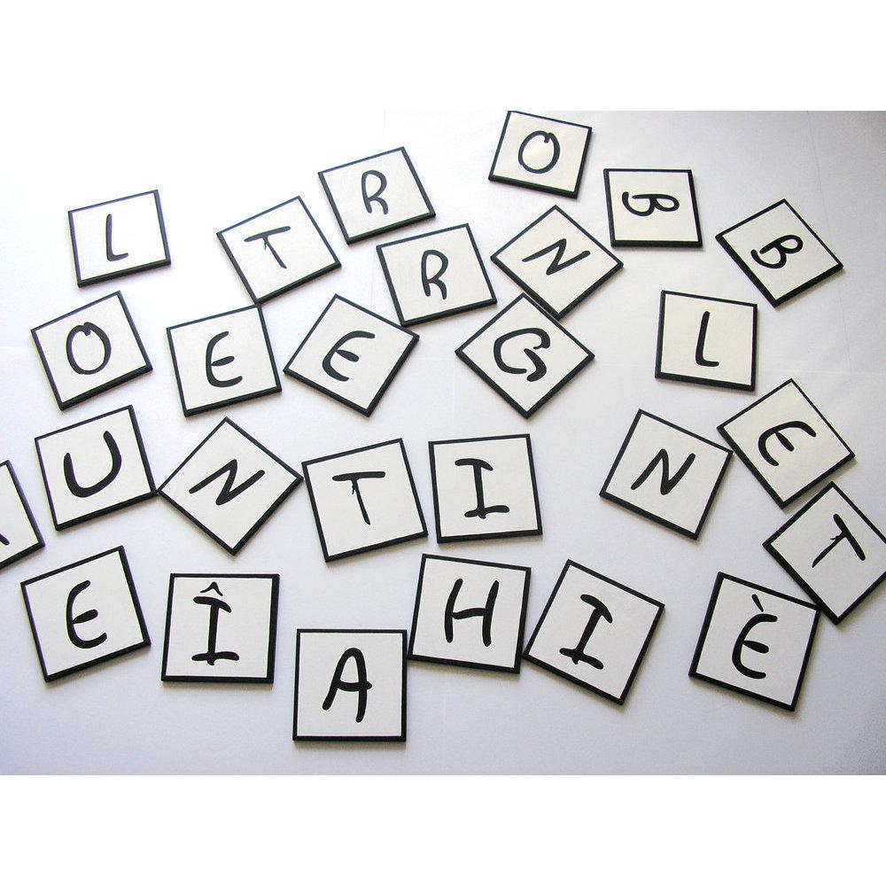 Lettres centre de table en bois 5 cm mots crois s - Mot de 7 lettres commencant par a ...