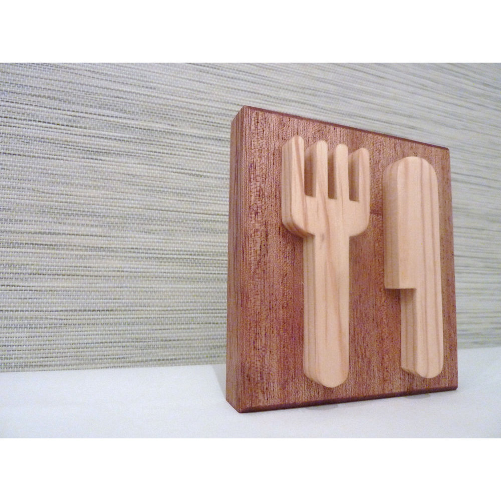 Décoration pour restaurant en bois