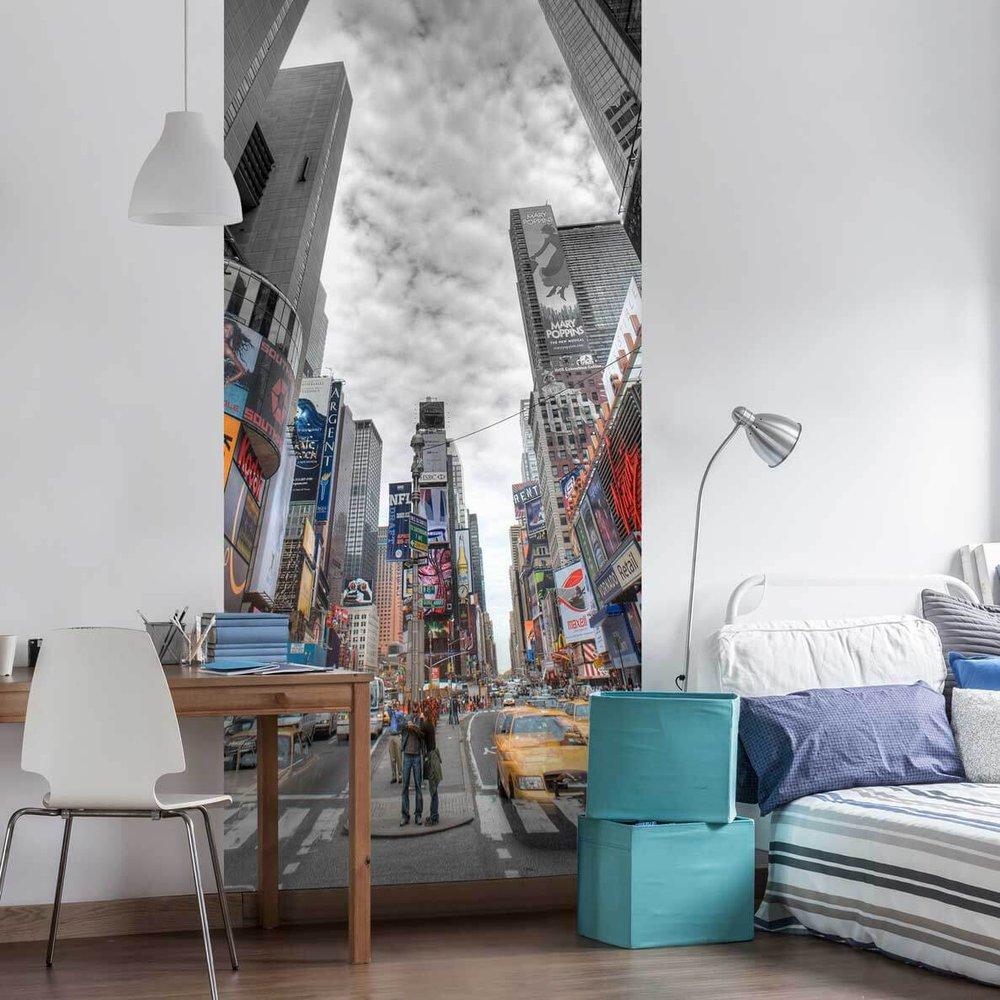 papier peint new york times square. Black Bedroom Furniture Sets. Home Design Ideas