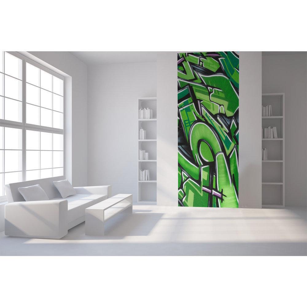 papier peint tag ado vert. Black Bedroom Furniture Sets. Home Design Ideas