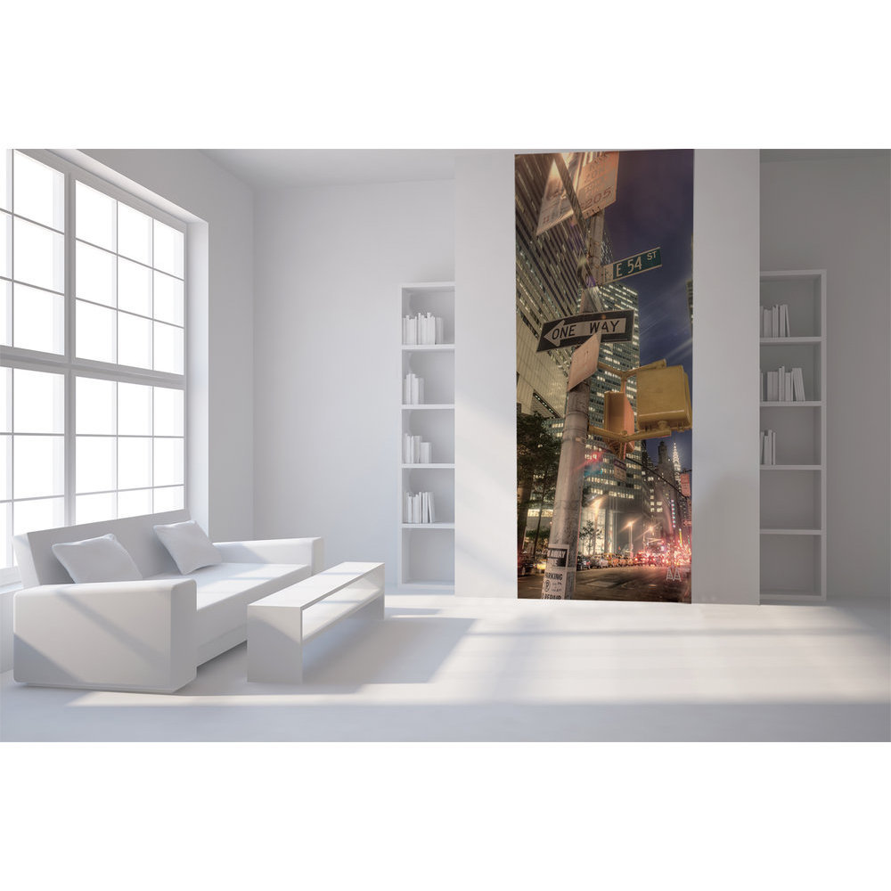 papier peint new york de nuit. Black Bedroom Furniture Sets. Home Design Ideas