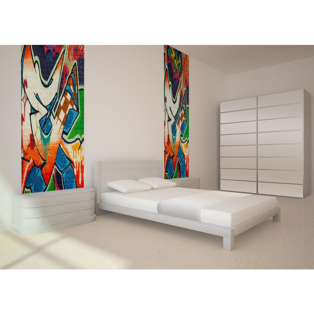 acheter papier peint original fa on tag et graffiti. Black Bedroom Furniture Sets. Home Design Ideas