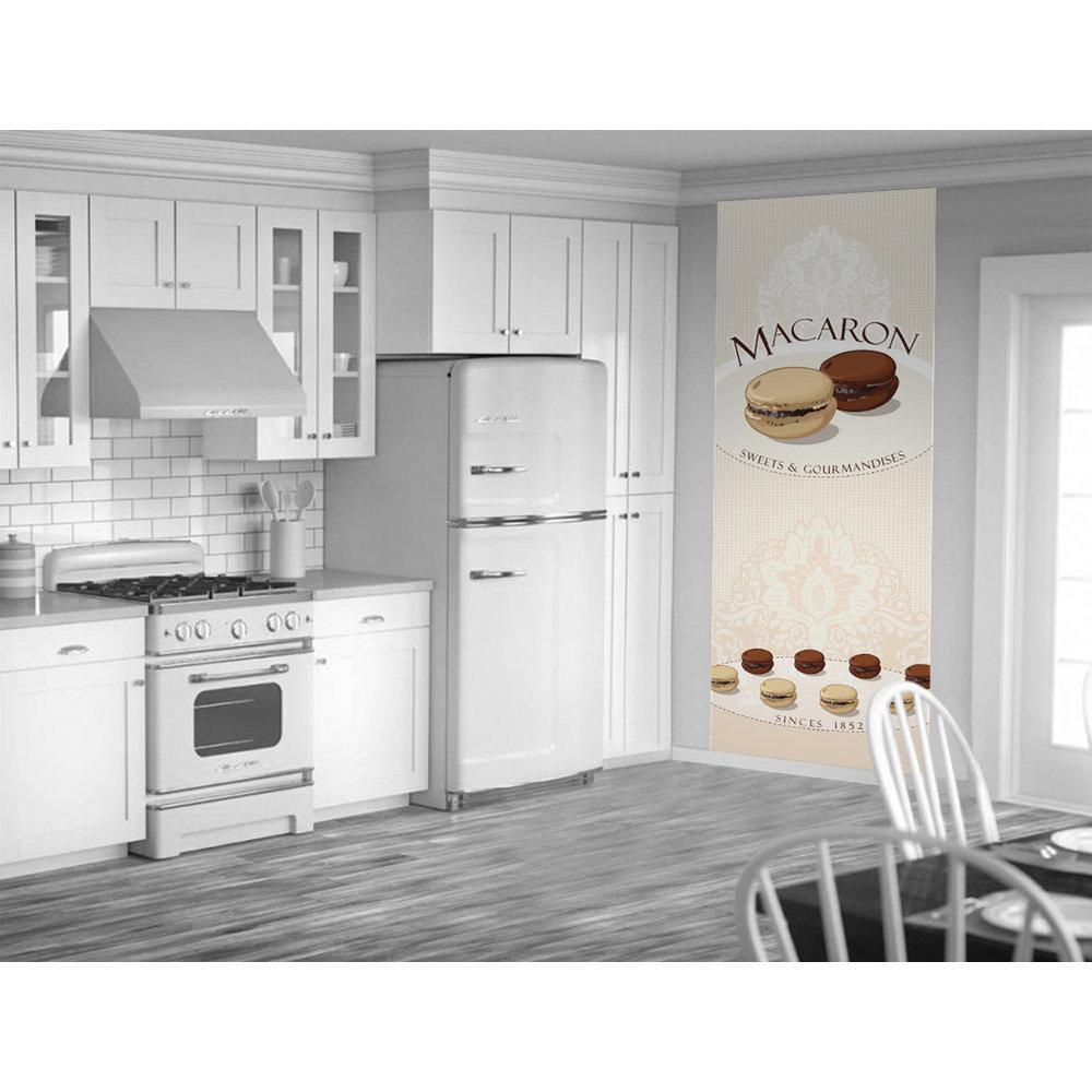 l de papier peint pour cuisine tapisserie originale macaron. Black Bedroom Furniture Sets. Home Design Ideas