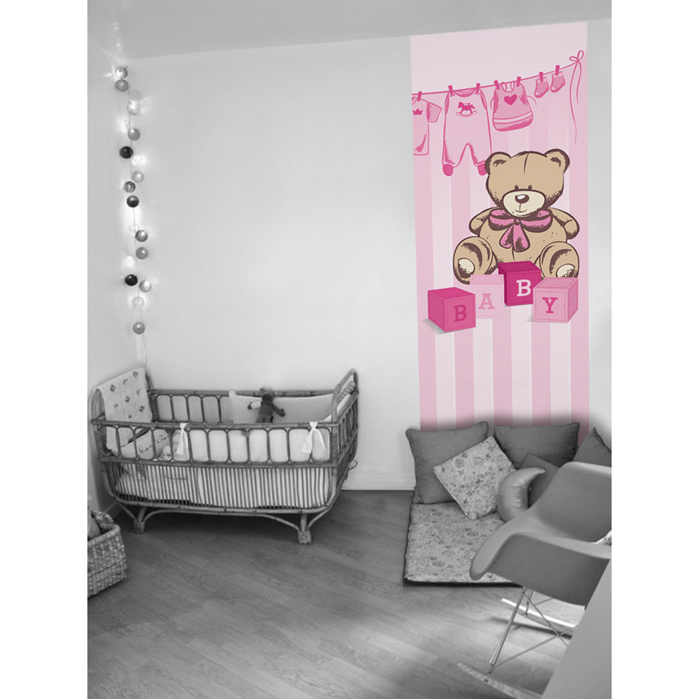 Chambre bebe fille papier peint - Papier peint chambre de fille ...