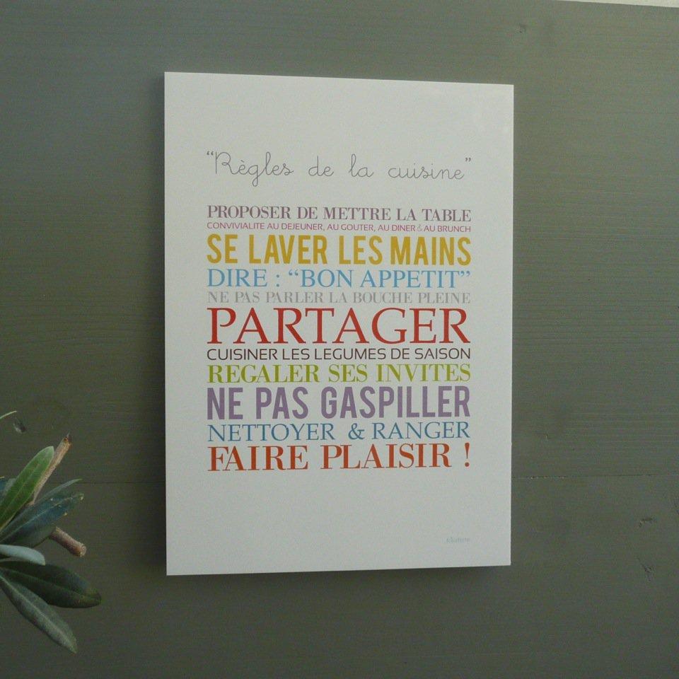 affiche cuisine