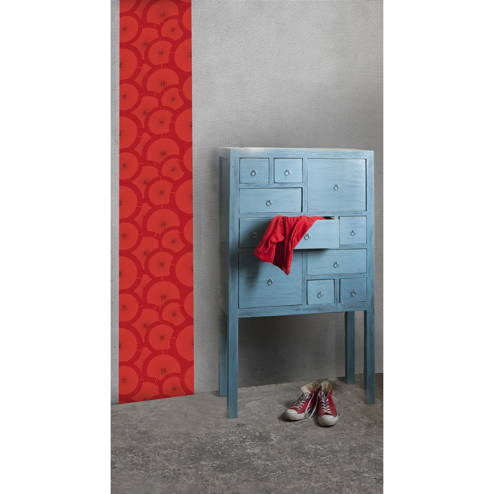 papier peint motif rouge. Black Bedroom Furniture Sets. Home Design Ideas