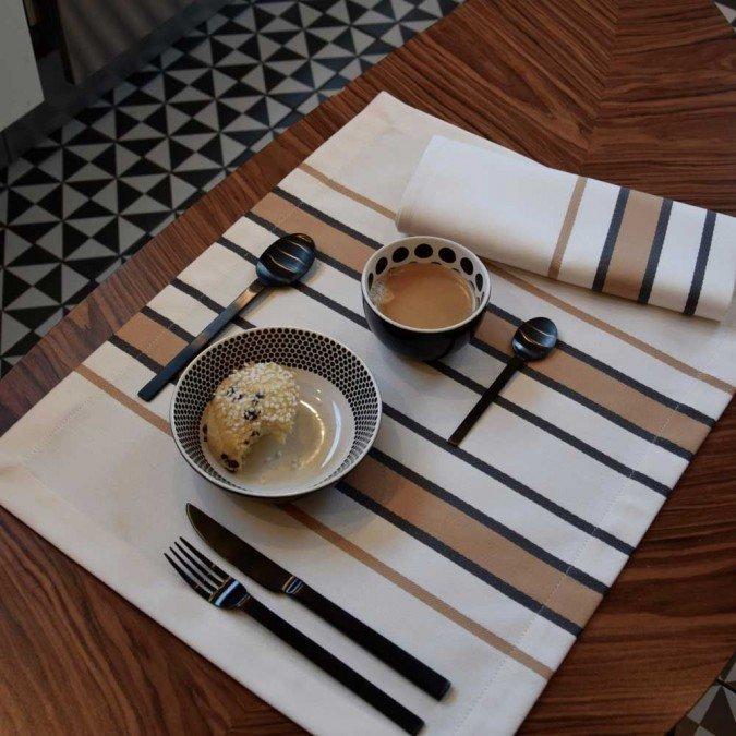 set de table basque coton sup rieur cr ation jean vier. Black Bedroom Furniture Sets. Home Design Ideas
