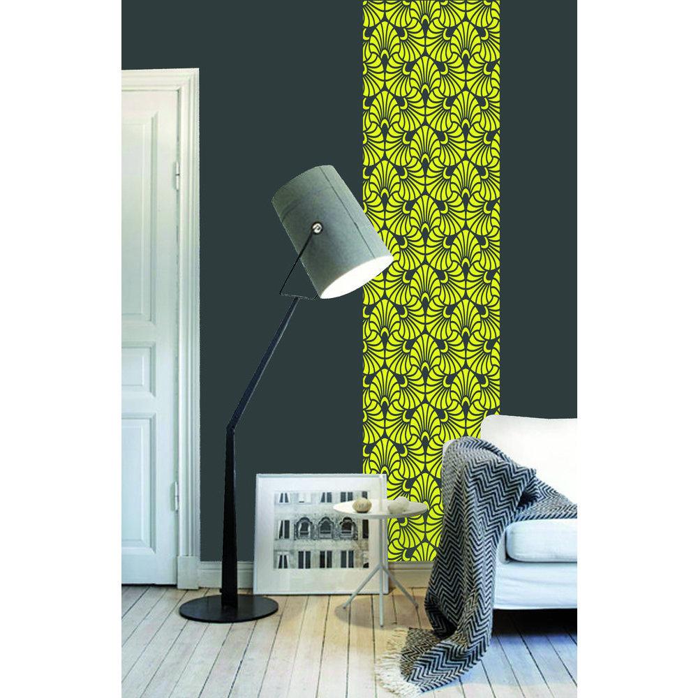 papier peint jaune. Black Bedroom Furniture Sets. Home Design Ideas