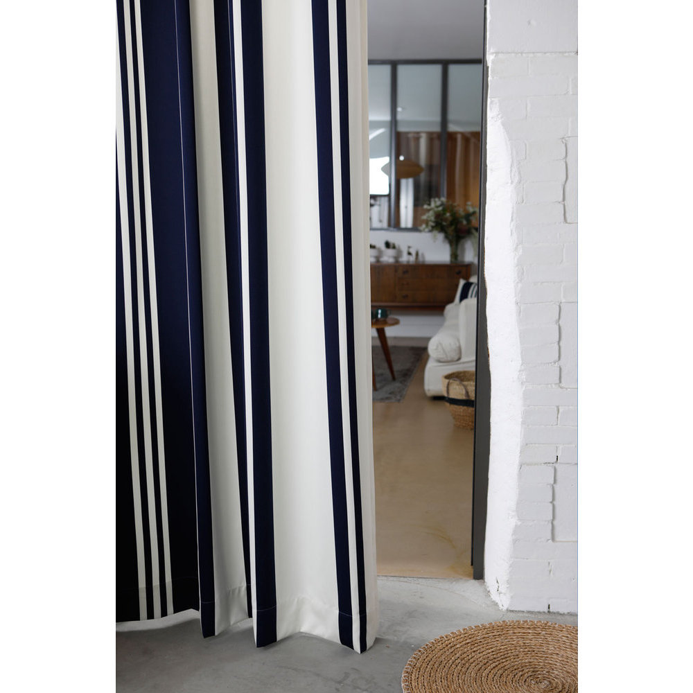 rideau rayures bleu et blanc. Black Bedroom Furniture Sets. Home Design Ideas