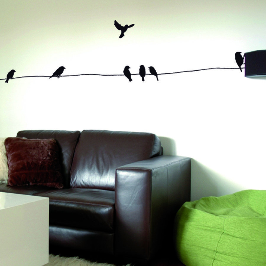stickers muraux oiseaux. Black Bedroom Furniture Sets. Home Design Ideas