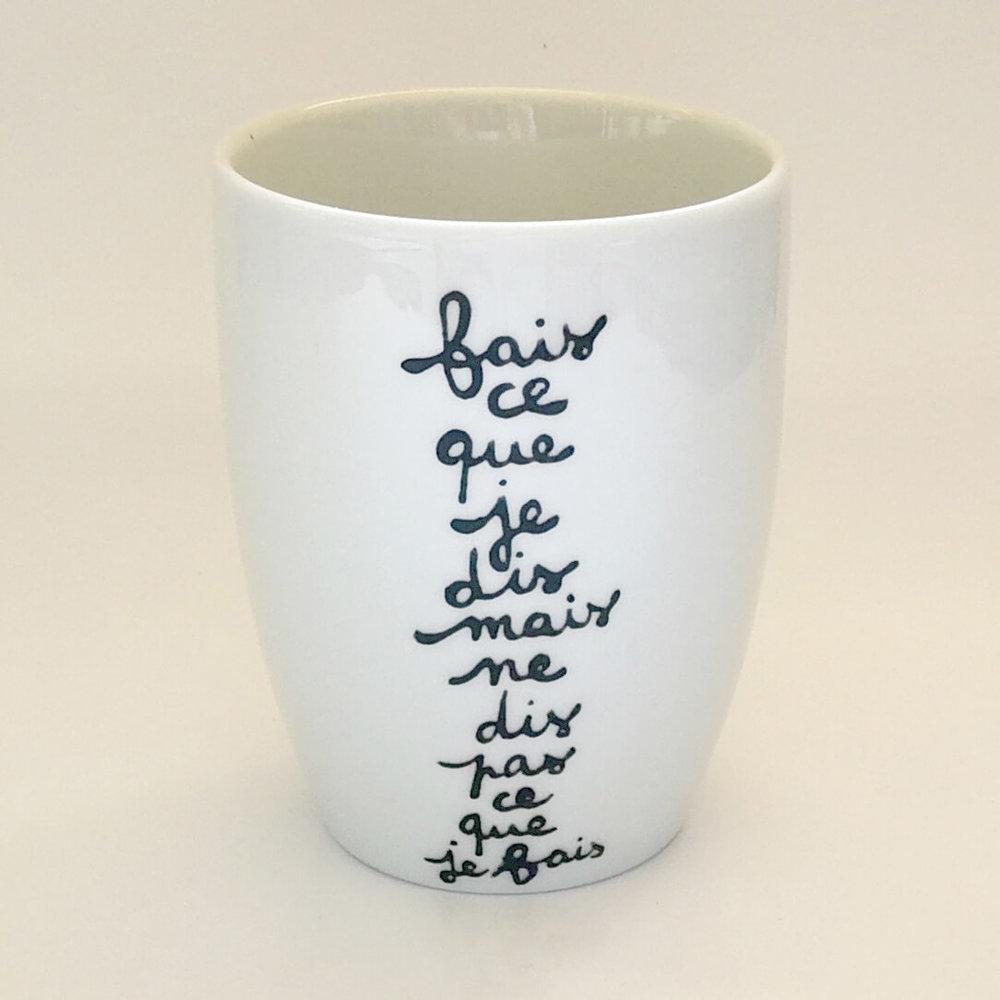 Super Mug personnalisé texte WO25