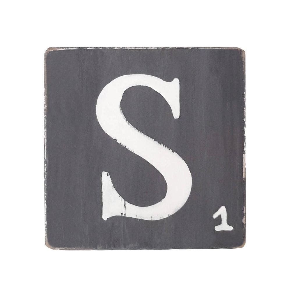 lettre d co zinc blanc 25 cm. Black Bedroom Furniture Sets. Home Design Ideas