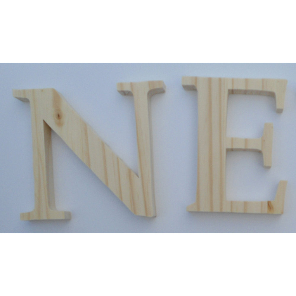 lettres en bois 10 cm avec crochet. Black Bedroom Furniture Sets. Home Design Ideas