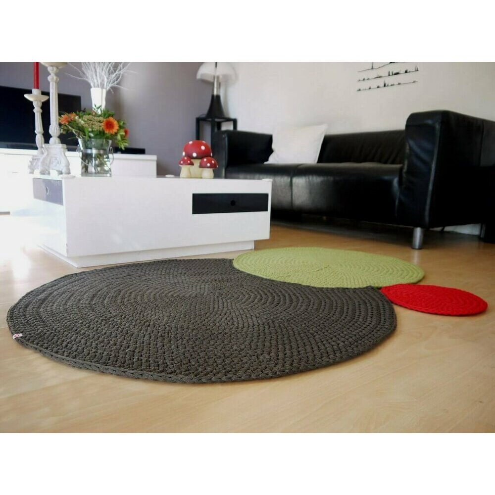 tapis rond rose. Black Bedroom Furniture Sets. Home Design Ideas