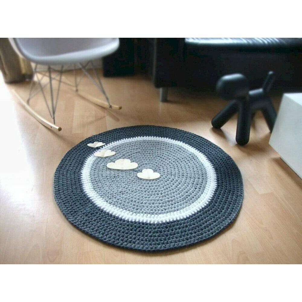 tapis bleu gris. Black Bedroom Furniture Sets. Home Design Ideas