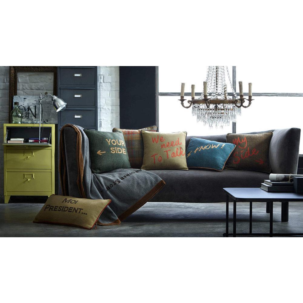 coussin avec message. Black Bedroom Furniture Sets. Home Design Ideas