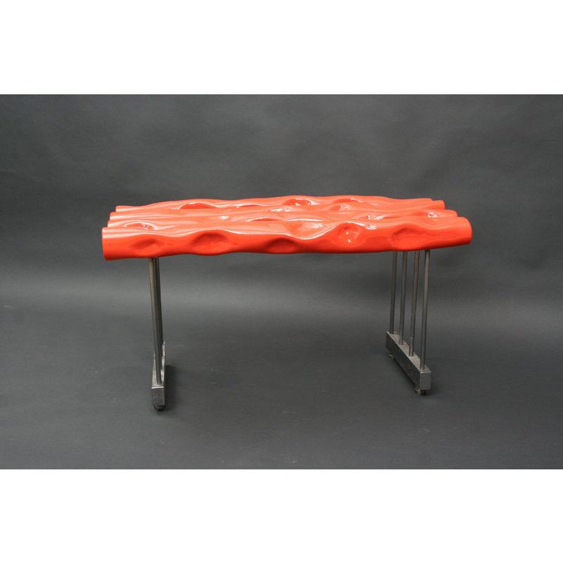 banc design int rieur acier rose orange nicolas desbons. Black Bedroom Furniture Sets. Home Design Ideas
