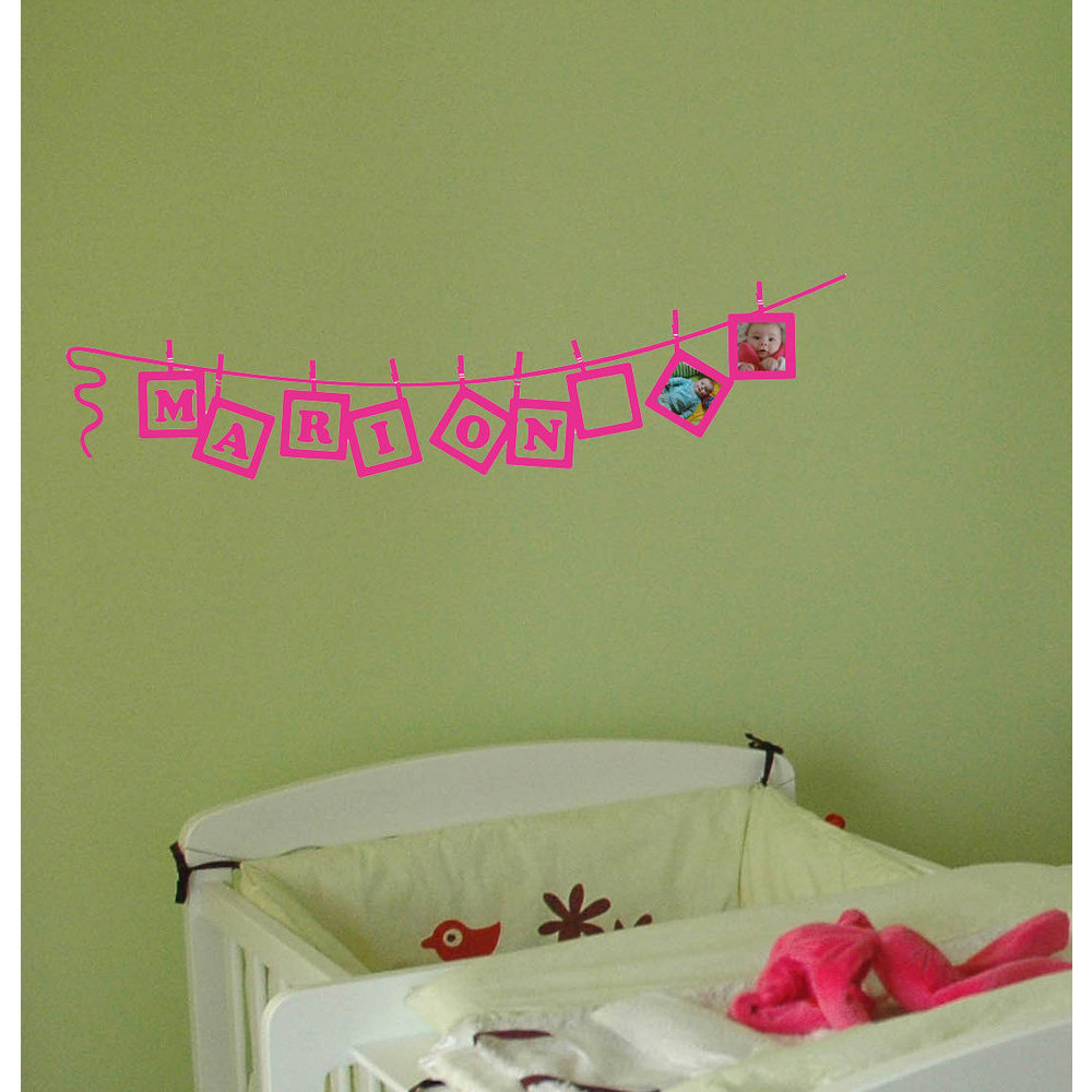 Toise fille, stickers chambre enfant, binup