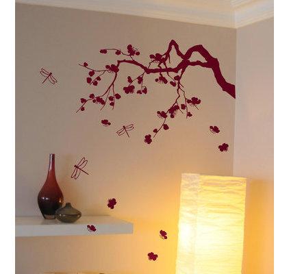 sticker cerisier japonais d co murale salon zen. Black Bedroom Furniture Sets. Home Design Ideas