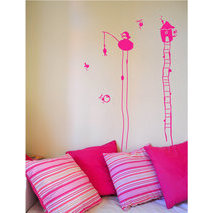 sticker mural pilotis