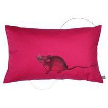 coussin rose Souris