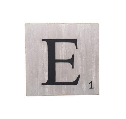 Lettres d coratives gris 10 cm - Deco lettre scrabble ...