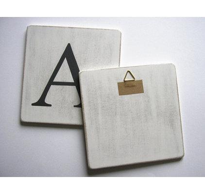 Lettres en bois d co blanc - Lettre scrabble deco ...