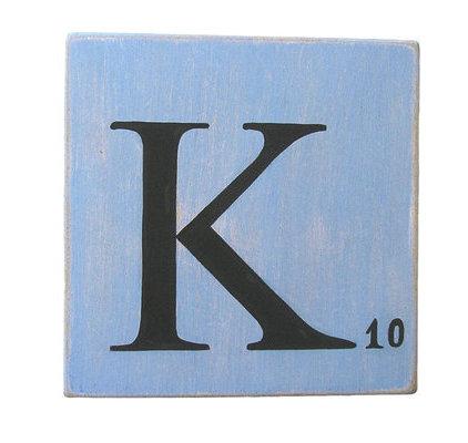 Lettres d coratives bleu 10 cm - Deco lettre scrabble ...
