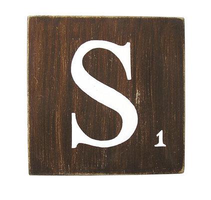 Lettres d coratives marron 25 cm - Deco lettre scrabble ...