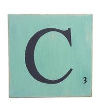 Lettres d coratives bleu lagon 10 cm - Lettre scrabble bois ...