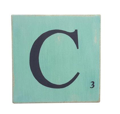 lettres en bois d co bleu lagon 15 cm. Black Bedroom Furniture Sets. Home Design Ideas