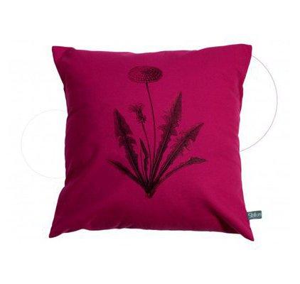 coussin fleur pissenlit rose fushia. Black Bedroom Furniture Sets. Home Design Ideas