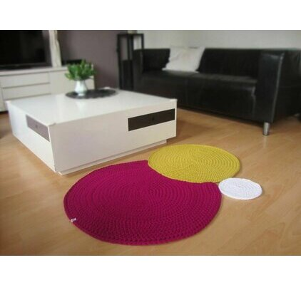 tapis rond crochet. Black Bedroom Furniture Sets. Home Design Ideas