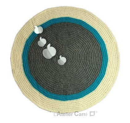 Tapis rond blanc images for Tapis turquoise gris