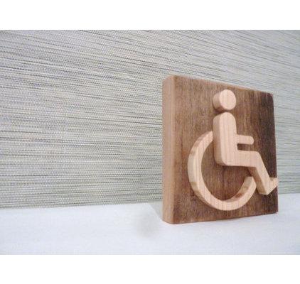 Pictogramme handicap pour hotel et restaurant - Largeur porte handicape ...