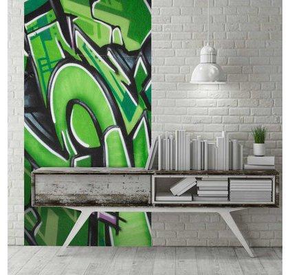 acheter l de papier peint original motif tag et graffiti. Black Bedroom Furniture Sets. Home Design Ideas