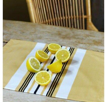 set de table en tissu basque gris linge de cuisine jean vier. Black Bedroom Furniture Sets. Home Design Ideas