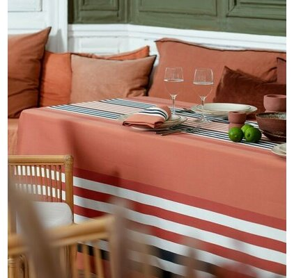 nappe tissu basque orange et rouge. Black Bedroom Furniture Sets. Home Design Ideas