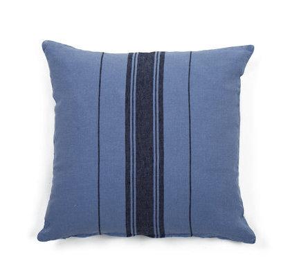 coussin en lin bleu marine. Black Bedroom Furniture Sets. Home Design Ideas