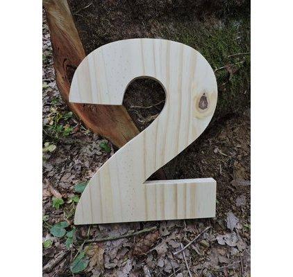 Lettre en bois 30 cm